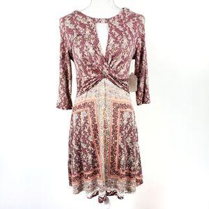 Altar'd State Surplice Keyhole Mini Dress NWT